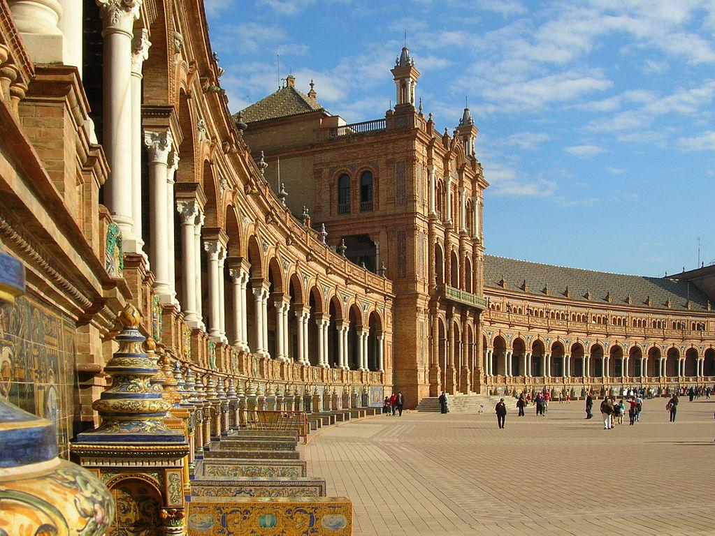 Séville - la place d'Espagne