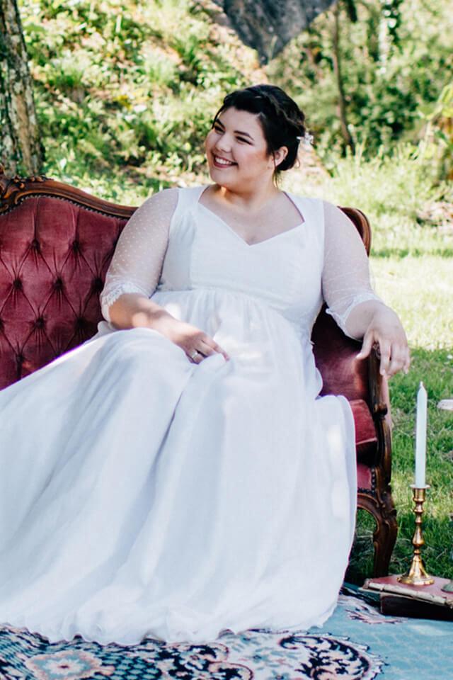 kaa couture robe mariée pour femme ronde- robe flavie